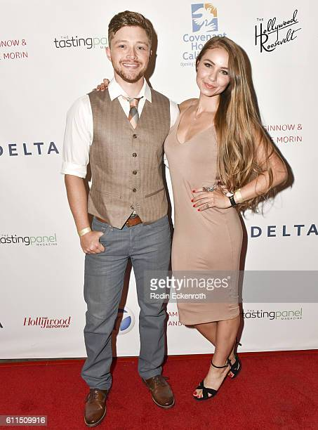 Actors Sterling Knight and Ayla Kell attend the 4th Annual All Star Mixology Competition to Benefit Covenant House California at Hollywood Roosevelt...