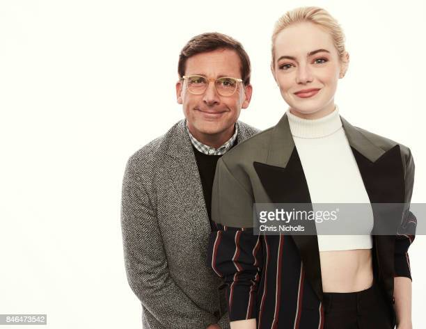 Actors Steve Carell and Emma Stone of Fox Searchlight Pictures' 'Battle of the Sexes' are photographed at the Toronto Film Festival for Self...