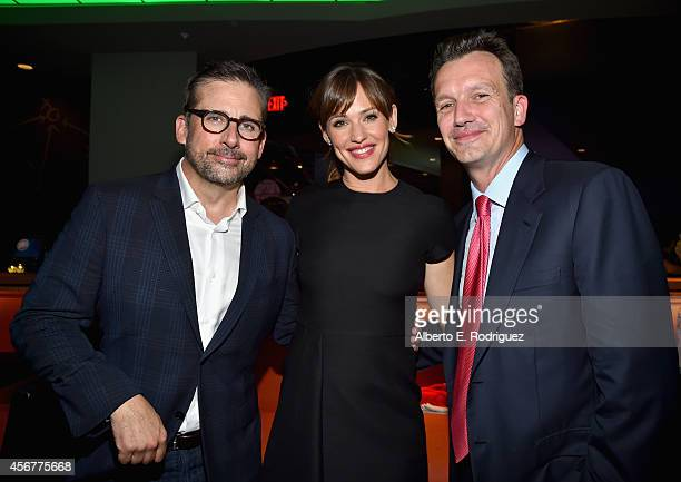 Actors Steve Carell and Jennifer Garner and President of Walt Disney Studios Motion Picture Production Sean Bailey attend the after party for The...