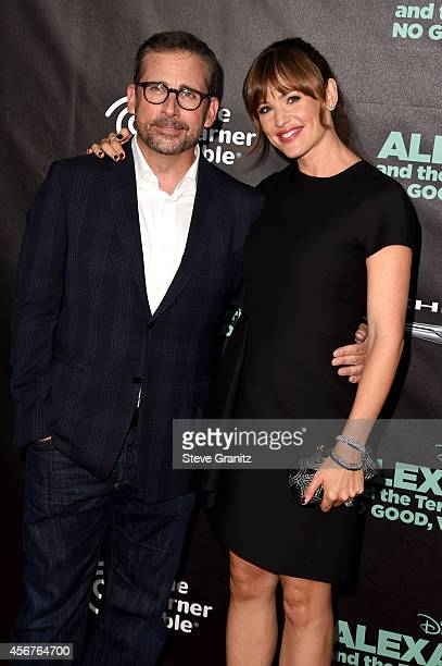 "Actors Steve Carell and Jennifer Garner attend the premiere of Disney's ""Alexander and the Terrible, Horrible, No Good, Very Bad Day"" at the El..."
