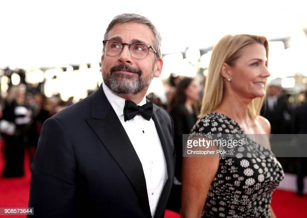 Actors Steve Carell and Nancy Carell attend the 24th Annual Screen Actors Guild Awards at The Shrine Auditorium on January 21 2018 in Los Angeles...