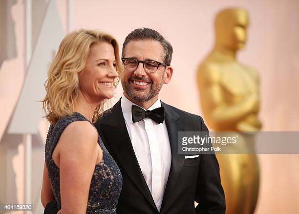 Actors Steve Carell and Nancy Carell attend the 87th Annual Academy Awards at Hollywood Highland Center on February 22 2015 in Hollywood California