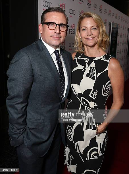 """Actors Steve Carell and Nancy Carell attend the closing night gala premiere of Paramount Pictures' """"The Big Short"""" during AFI FEST 2015 at TCL..."""