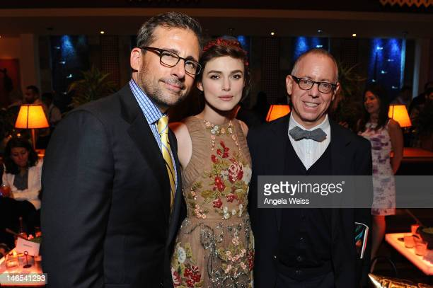 Actors Steve Carell Keira Knightley and CEO of Focus Features James Schamus attend the premiere after party of Seeking a Friend for the End of the...