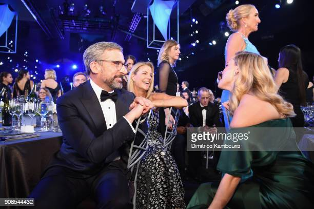 Actors Steve Carell Nancy Carell and Reese Witherspoon attend the 24th Annual Screen Actors Guild Awards at The Shrine Auditorium on January 21 2018...