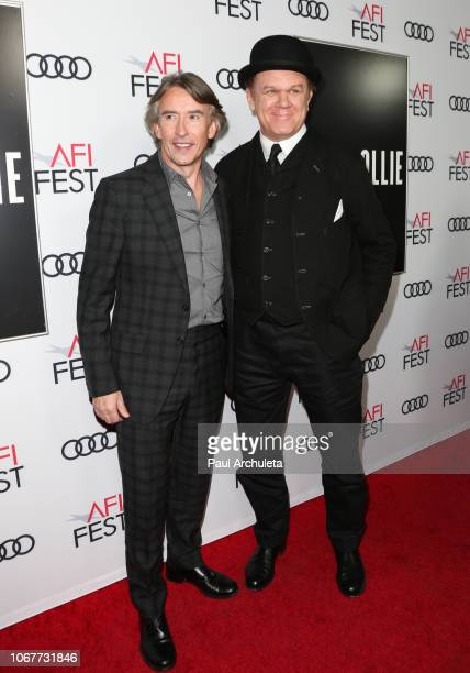 Actors Steve Coogan and John C Reilly attend the special screening of 'Stan Ollie' at the 2018 AFI FEST at the Egyptian Theatre on November 14 2018...