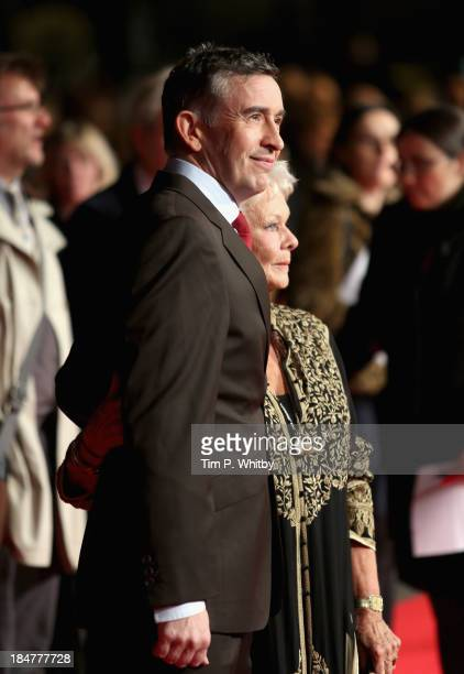 Actors Steve Coogan and Judi Dench attend the 'Philomena' American Express Gala screening during the 57th BFI London Film Festival at Odeon Leicester...