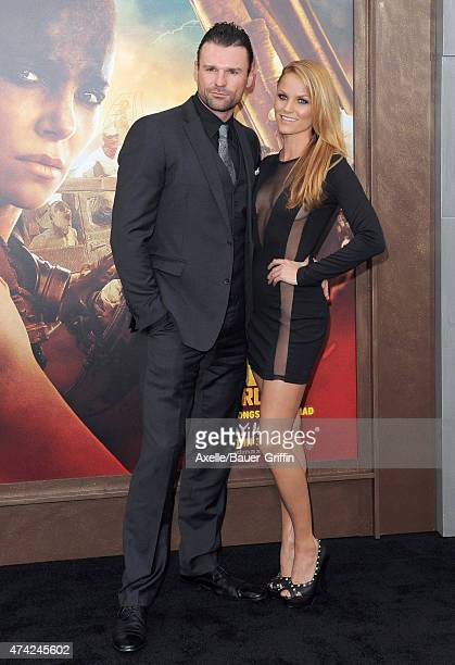 Actors Steve Dunlevy and Ellen Hollman arrive at the Los Angeles premiere of 'Mad Max: Fury Road' at TCL Chinese Theatre IMAX on May 7, 2015 in...