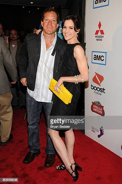 Actors Steve Guttenberg and Ally Sheedy arrive at the premiere of Harold at the 62nd and Broadway Cinema on April 30 2008 in New York City