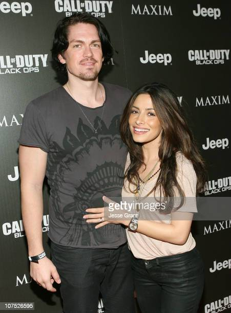 Actors Steve Howey and Sarah Shahi attend the Jeep MAXIM and Call of Duty Black Ops Celebration of The 2010 Maximum Warrior at SupperClub Los Angeles...