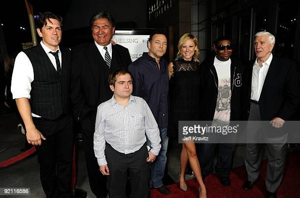 Actors Steve Howey Ray Thunderchild Jeff Gulka writer/director Bo Zenga actress Desi Lydic actors Kenan Thompson and Leslie Nielsen arrive at the...