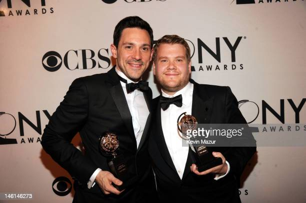 Actors Steve Kazee and James Corden attend the 66th Annual Tony Awards at The Beacon Theatre on June 10 2012 in New York City
