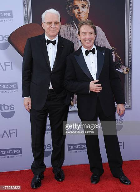 Actors Steve Martin and Martin Short attend the 43rd AFI Life Achievement Award Gala at Dolby Theatre on June 4 2015 in Hollywood California