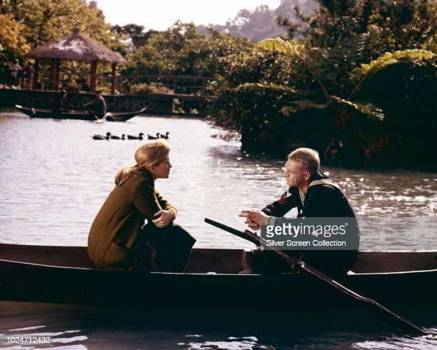 Actors Steve McQueen and Candice Bergen in a scene from the film 'The Sand Pebbles', 1966.