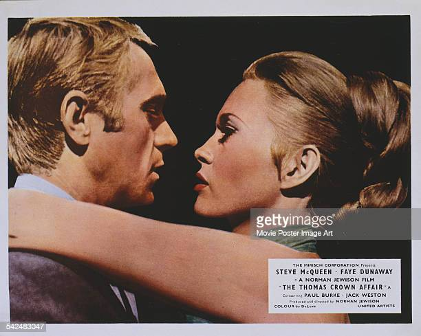 Actors Steve McQueen and Faye Dunaway appear on the poster for the Mirisch Corporation film 'The Thomas Crown Affair' 1968
