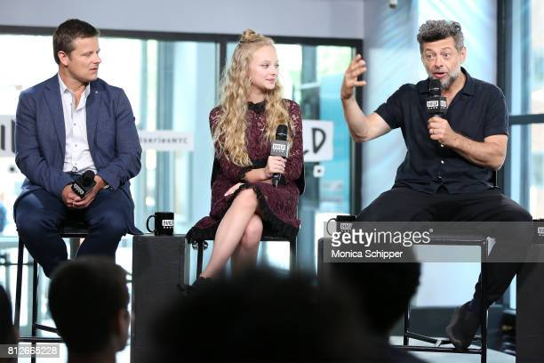 Actors Steve Zahn Amiah Miller and Andy Serkis discuss 'War For The Planet Of The Apes' at Build Studio on July 11 2017 in New York City