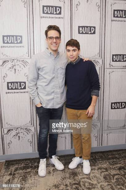 Actors Steven Levenson and Noah Galvin visit Build to discuss 'Dear Evan Hansen' at Build Studio on December 12 2017 in New York City
