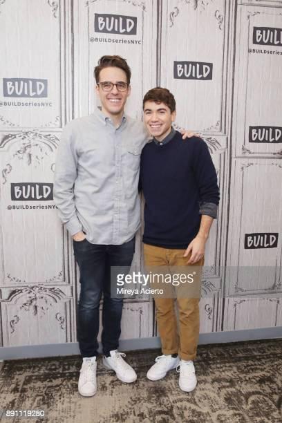 Actors Steven Levenson and Noah Galvin visit Build to discuss Dear Evan Hansen at Build Studio on December 12 2017 in New York City