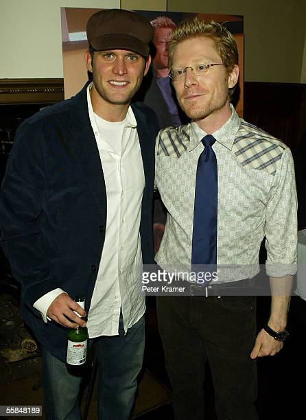 Actors Steven Pasquale and Anthony Rapp attend Gotham magazine party to celebrate the October men's fashion issue on October 3 2005 in New York City