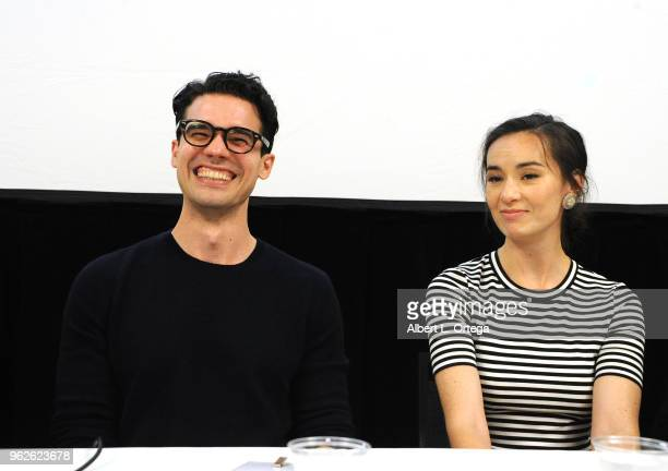 Actors Steven Strait and Cara Gee attend the Science Of The Expanse Panel held at Sheraton Gateway Hotel on May 25 2018 in Los Angeles California