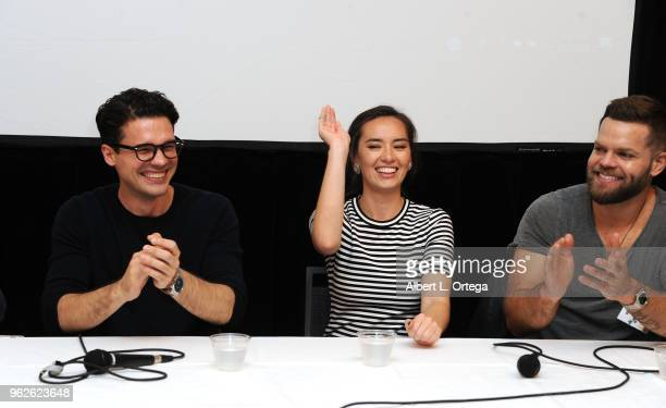 Actors Steven Strait Cara Gee and Wes Chatham attend the Science Of The Expanse Panel held at Sheraton Gateway Hotel on May 25 2018 in Los Angeles...