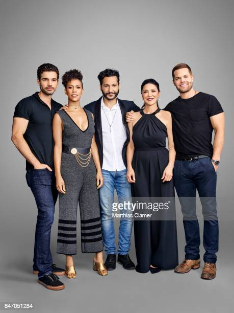 Actors Steven Strait Dominique Tipper Cas Anvar Shohreh Aghdashloo and Wes Chatham from 'The Expanse' are photographed for Entertainment Weekly...