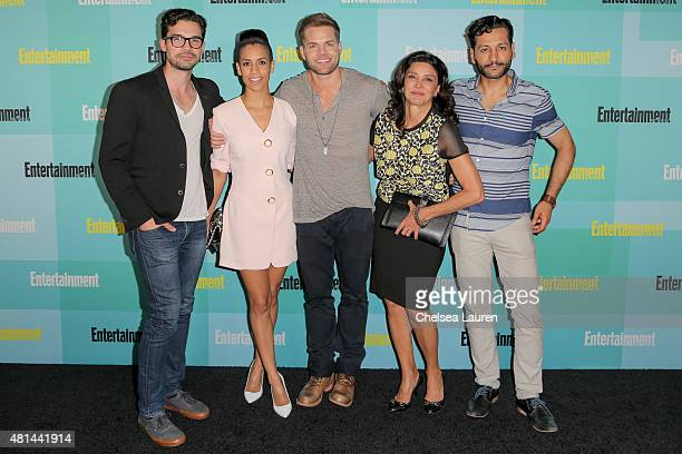 Actors Steven Strait Dominique Tipper Wes Chatham Shohreh Aghdashloo and Cas Anvar arrive at the Entertainment Weekly celebration at Float at Hard...
