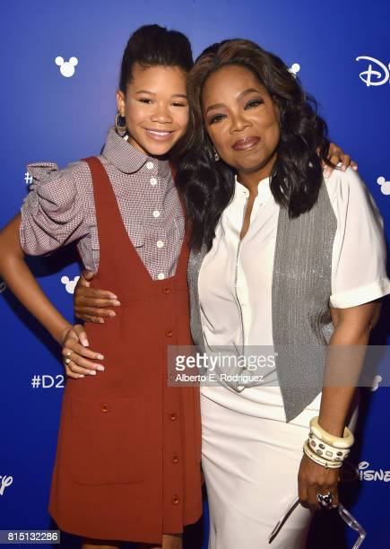 Actors Storm Reid and Oprah Winfrey of A WRINKLE IN TIME took part today in the Walt Disney Studios live action presentation at Disney's D23 EXPO...