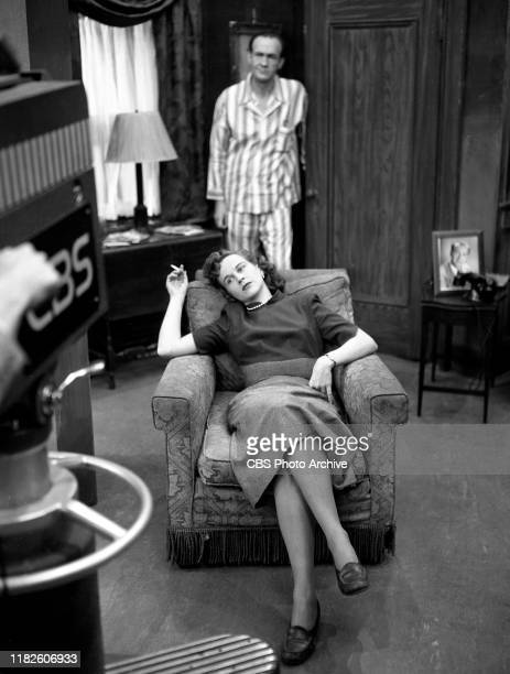 Actors Studio a CBS television dramatic anthology series Episode Return to Kansas City originally broadcast November 1 1949 Featuring in front is Kim...
