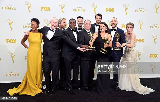 Actors Sufe Bradshaw, Matt Walsh, Gary Cole, Sam Richardson, Reid Scott, Kevin Dunn, Timothy Simons, Julia Louis-Dreyfus, winner of Outstanding Lead...