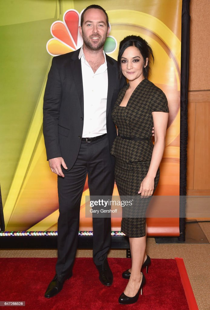 Actors Sullivan Stapleton and Archie Panjabi attend the NBCUniversal Press Junket at the Four Seasons Hotel New York on March 2, 2017 in New York City.