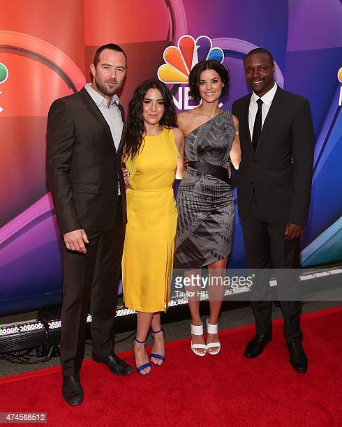 Actors Sullivan Stapleton Audrey Esparza Jaimie Alexander and Rob Brown attend the 2015 NBC Upfront Presentation Red Carpet Event at Radio City Music...