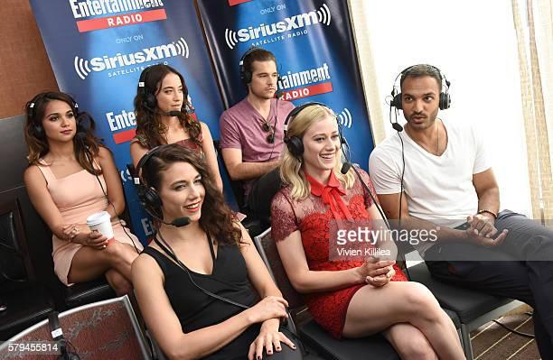 Actors Summer Bishil Stella Maeve Jason Ralph Jade Tailor Olivia Taylor Dudley and Arjun Gupta attend SiriusXM's Entertainment Weekly Radio Channel...