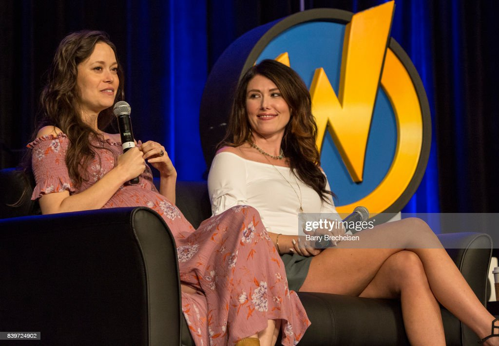 Actors Summer Glau and Jewel Staite during the Wizard World Chicago Comic-Con at Donald E. Stephens Convention Center on August 26, 2017 in Rosemont, Illinois.