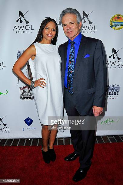 Actors Sundra Oakley and Tony Denison arrive at AWOL Studios launch hosted by Major Crimes star Tony Denison at LA Mother on November 5 2015 in...