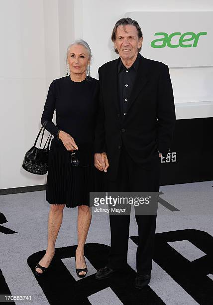 Actors Susan Bay and Leonard Nimoy arrive at the Los Angeles premiere of 'Star Trek: Into Darkness' at Dolby Theatre on May 14, 2013 in Hollywood,...