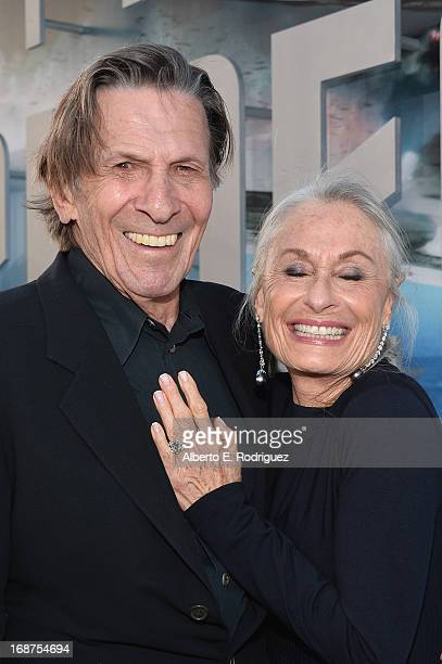 """Actors Susan Bay and Leonard Nimoy arrive at the premiere of Paramount Pictures' """"Star Trek Into Darkness"""" at Dolby Theatre on May 14, 2013 in..."""