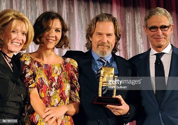 Actors Susan Blakely Maggie Gyllenhaal Jeff Bridges and Michael Nouri attend AARP's 9th Annual Movies For Grownups awards gala held on February 16...