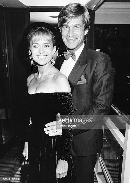 Actors Susan George and Simon MacCorkindale attending the TV BAFTA Awards in London, March 20th 1988.
