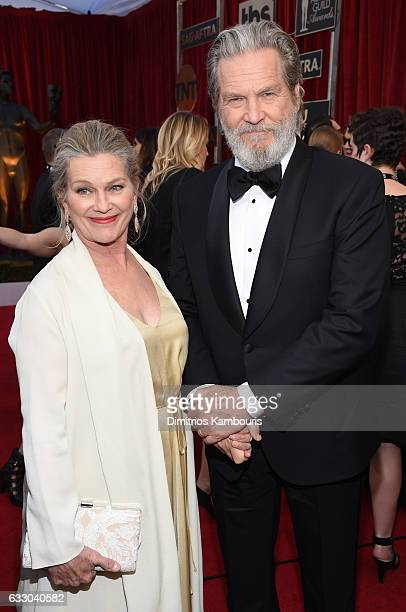 Actors Susan Geston and Jeff Bridges attend The 23rd Annual Screen Actors Guild Awards at The Shrine Auditorium on January 29 2017 in Los Angeles...