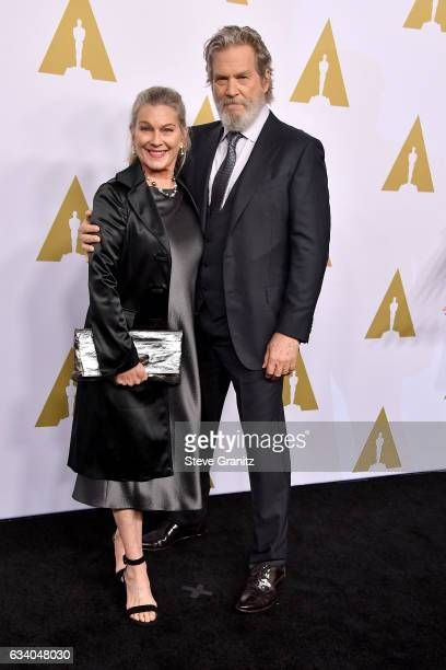 Actors Susan Geston and Jeff Bridges attend the 89th Annual Academy Awards Nominee Luncheon at The Beverly Hilton Hotel on February 6 2017 in Beverly...