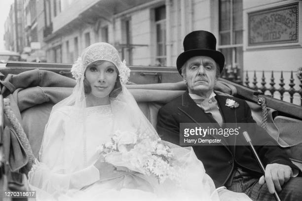 Actors Susan Hampshire and Eric Porter as Fleur and Soames Forsyte in the BBC television adaptation of John Galsworthy's series of novels 'The...