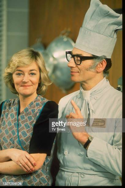 Actors Susan Hanson and David Lawton in character as Diane Parker and Bernard Booth in television soap Crossroads, circa 1976.
