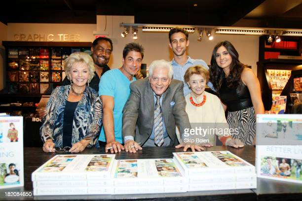Actors Susan Hayes James Reynolds Bryan Dattilo Bill Hayes Blake Berris Peggy McCay and Camila Banus greet fans and sign books at the 'Days of our...