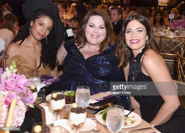 Actors Susan Kelechi Watson Chrissy Metz and Mandy Moore attend the 42nd Annual Gracie Awards at the Beverly Wilshire Hotel on June 6 2017 in Beverly...