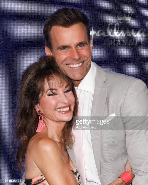 Actors Susan Lucci and Cameron Mathison attend the Hallmark Channel and Hallmark Movies Mysteries summer 2019 TCA press tour event at a Private...