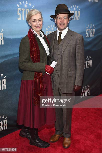 Actors Susan Lyons and Jefferson Mays attend Bright Star Opening Night on Broadway at The Cort Theatre on March 24 2016 in New York City