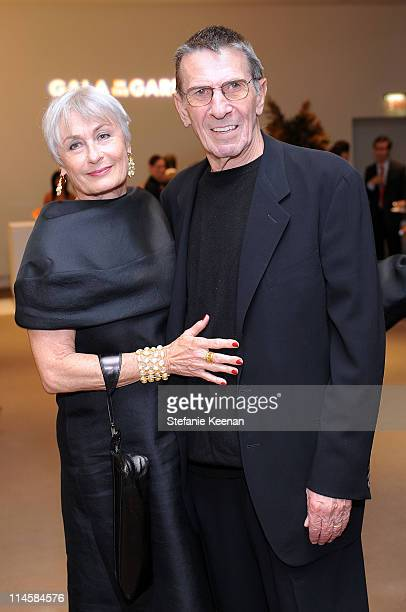 Actors Susan Nimoy and husband Leonard Nimoy attend the Hammer Museum's Gala in the Garden sponsered by Gucci held at the Hammer Museum on October 5,...