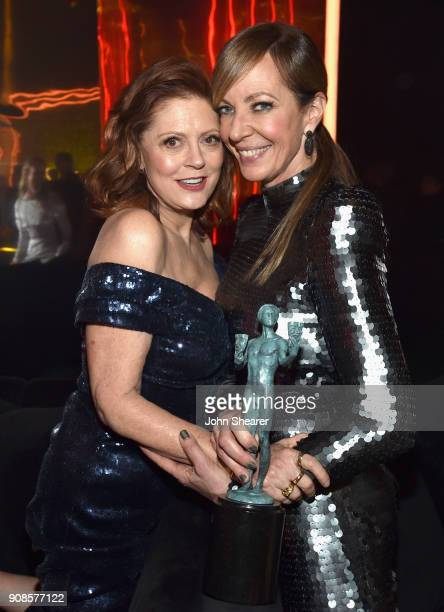 Actors Susan Sarandon and Allison Janney attend People and EIF's Annual Screen Actors Guild Awards Gala sponsored by TNT and L'Oreal Paris at The...