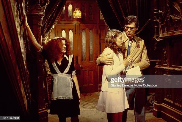 Actors Susan Sarandon Barry Bostwick and Patricia Quinn in a scene from the movie 'The Rocky Horror Picture Show' 1975